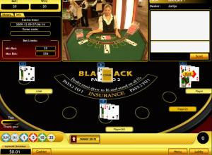 Eurogrand Blackjack en vivo